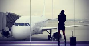 woman and jet