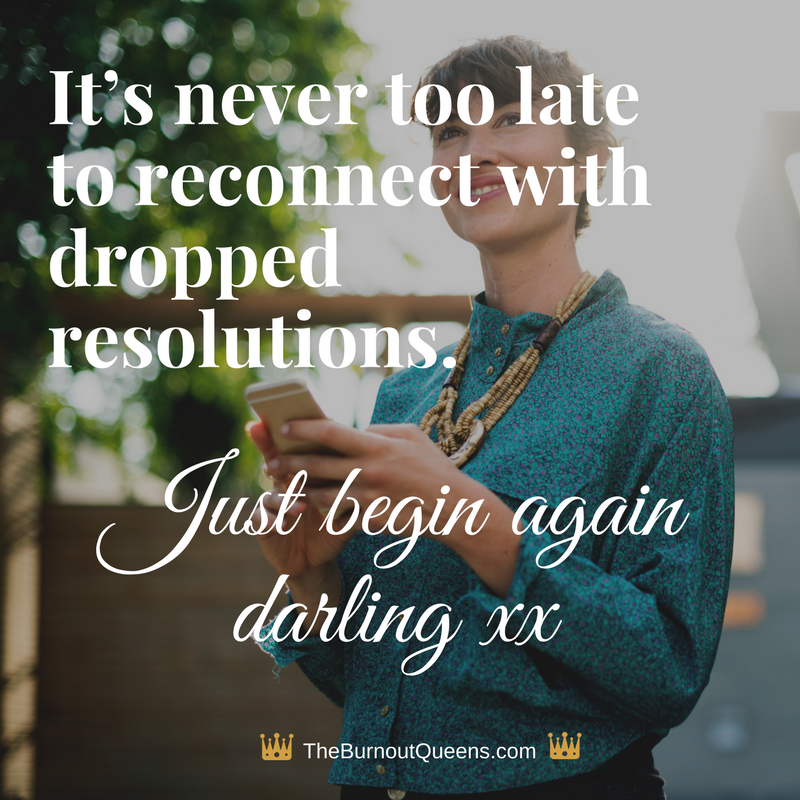 It's never too late to reconnect with dropped resolutions.